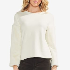 Vince Camuto Fur Sleeve Sweater, XL